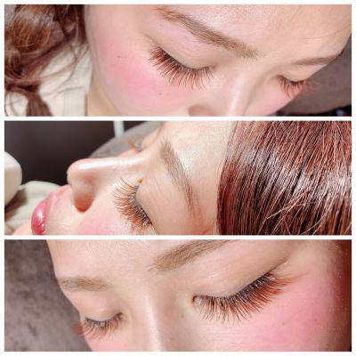 Single lash〜orange brownJcurl/0.15/9㎜.10㎜.10㎜/170本