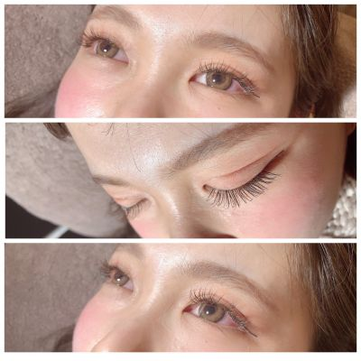 Single lash〜khaki brown×black mixDcurl/0.15/10㎜.11㎜.10㎜/140本